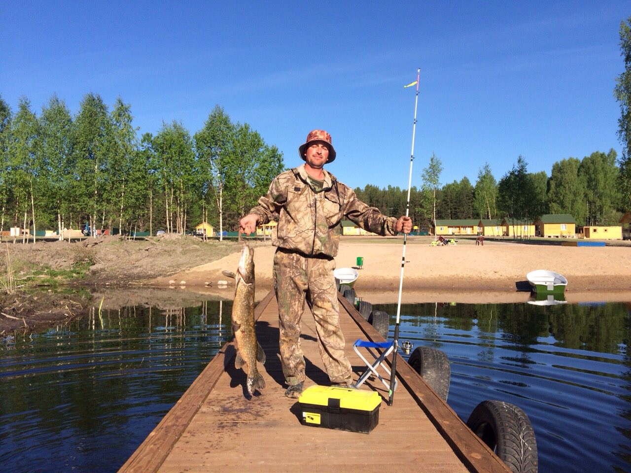 ловля на озере вуокса