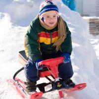 Катание на детском снегокате в ЛО