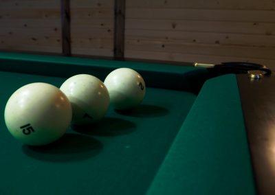 Игра в бильярд в базе отдыха Подворье 3