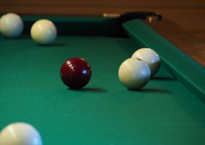 Игра в бильярд в базе отдыха Подворье